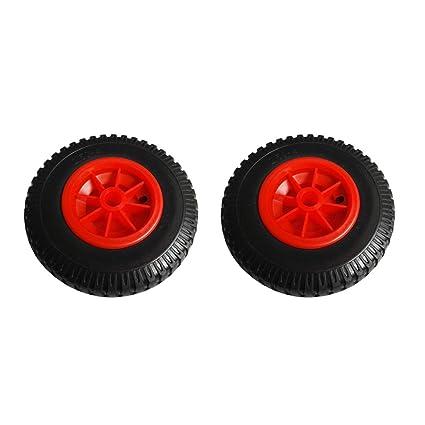 B Baosity 1 Par de Neumáticos de Carros de Transporte para Kayak de Goma Ligeros y