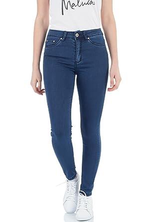 db7672b9a0be58 Malucas Damen Jeans Hose Skinny High Waist Röhrenjeans Hoher Bund Röhrenhose  Slim Fit mit hohem Bund Röhre mit Stretch Denim 00460: Amazon.de: Bekleidung