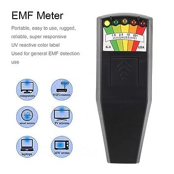 Detector de radiación electromagnética en caliente, LCD, medidor general EMF (color: negro): Amazon.es: Bricolaje y herramientas