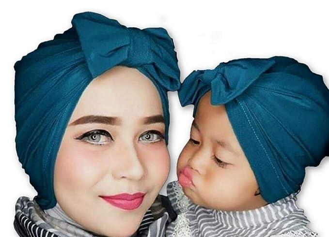 9aeb8559061cb Amazon.com  Newborn Infants Toddlers Girls Womens Beanie Hat Knotted Turban  Fashion Headband Hairband Hair Accessories Cap Hat 0-5years  Clothing
