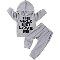 Toddler Infant Baby Boys Clothes Wild Boy Prints Hoodie Tops Sweatsuit Pants Outfit Set