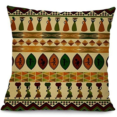 Linara Boutique Decor Square Throw Pillow Cushion Cover African Kente MUDCLOTH Series for Couch, Sofa, Bed, Home Decor, Interior Design, 18