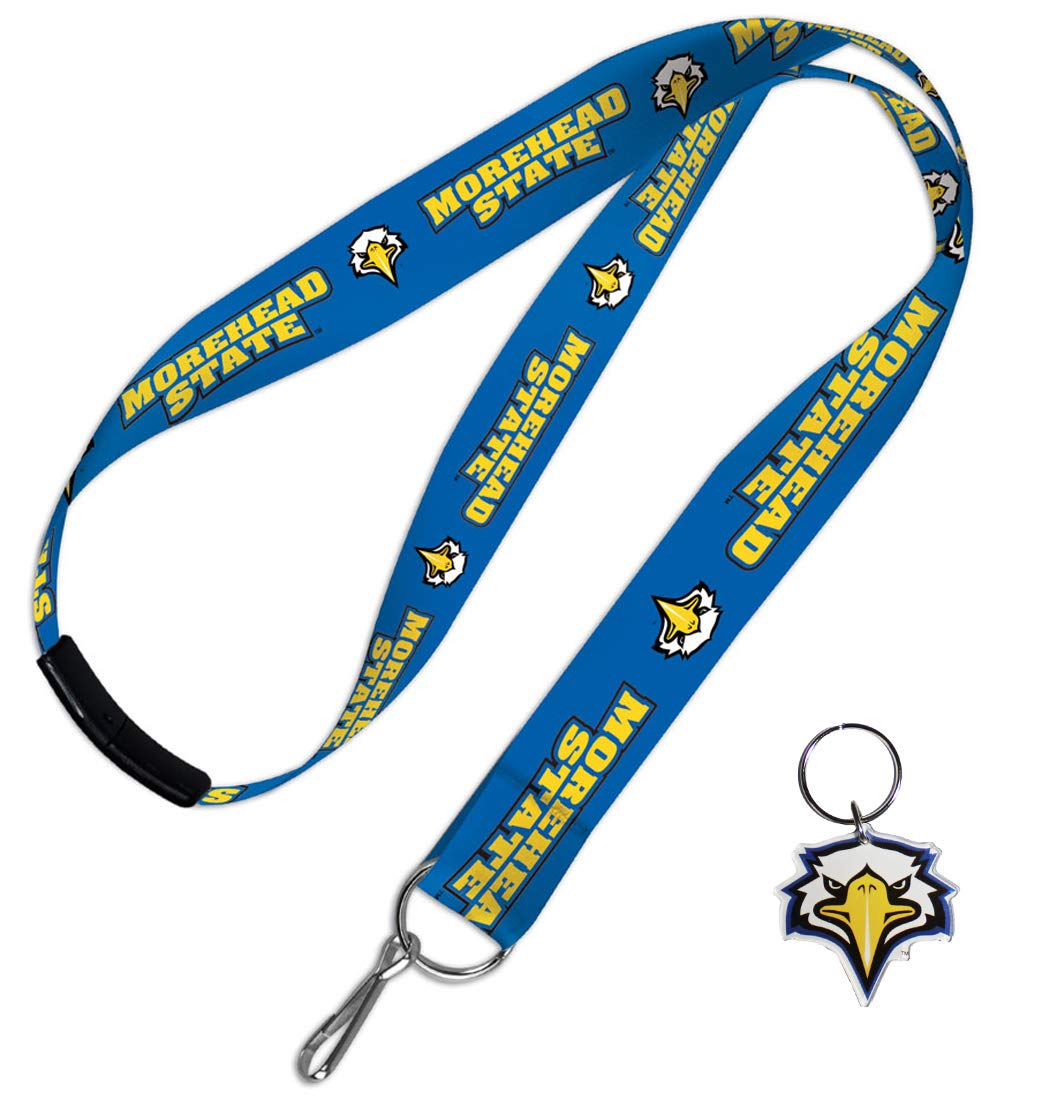 WinCraft Bundle 2 Items: Morehead State Eagles 1 Lanyard and 1 Key Ring by WinCraft (Image #1)