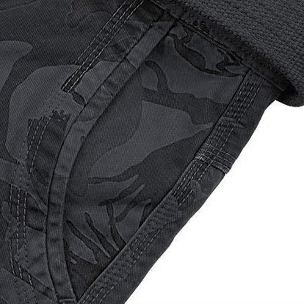 yoyorule Casual Summer Pants Mens Fashion Cotton Pocket Print Outdoors Work Trouser Cargo Short Pants