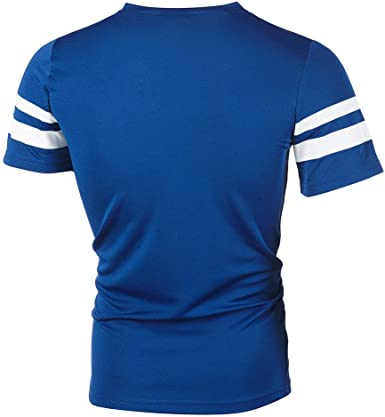 riou Camiseta Deportes Camisetas Hombre Manga Corta Moda Cuello ...