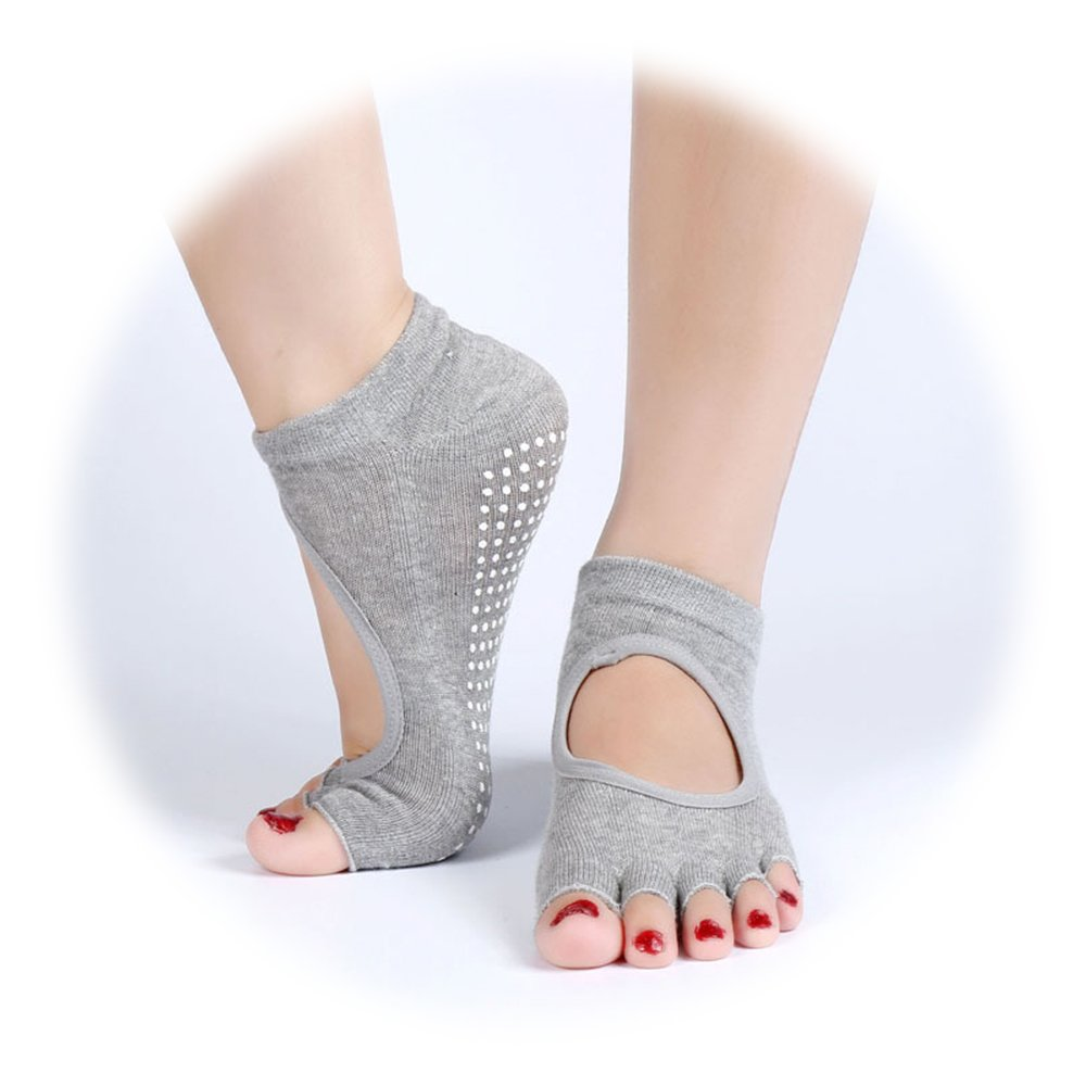 Yoga Socks Toeless Non Slip Skid Grippy Low Cut Socks for Yoga Pilates Barre Studio Bikram