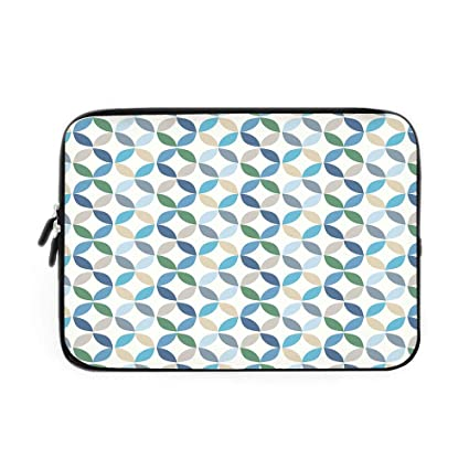 Amazon com: Geometric Circle Decor Laptop Sleeve Bag