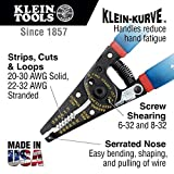 Wire Stripper and Cutter for 20-30 AWG Solid Wire and 22-32 AWG Stranded Wire Klein Tools 11057