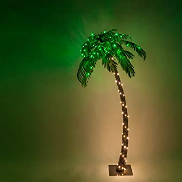 Outdoor Palm Tree Light Amazon 10 function led lighted palm tree pre lit palm tree 10 function led lighted palm tree pre lit palm tree indooroutdoor workwithnaturefo