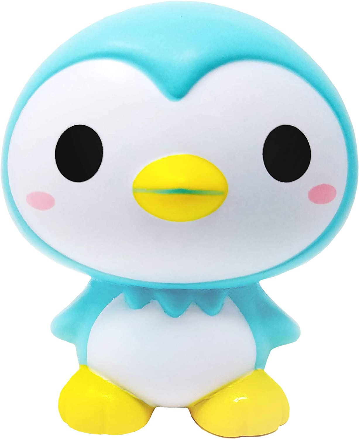 ibloom Little Penguins Cute Slow Rising Squishy Toy (SORA, Light Blue, Apple Scented) for Birthday Gifts, Party Favors, Stress Balls, Play at Home & Relieve Stress with Kawaii Squishies for Kids