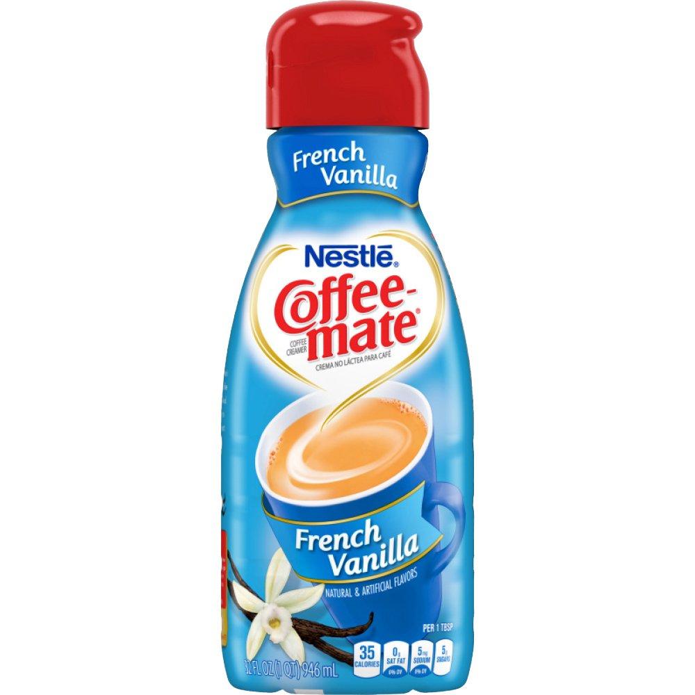 Coffee Mate Coffee Creamer Liquid, French Vanilla, Quart, 32 oz