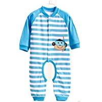 Pijama de invierno de una pieza, talla para adulto, de franela, azul, M (160-165 cm)