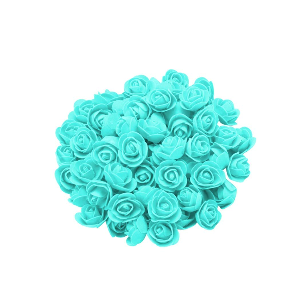 Cyhulu New Fashion Creative 100Pcs Foam Rose Flower Heads Best Lover Gifts for Wedding Birthday Valentine Mother's Day Favors Decoration (B, One size)