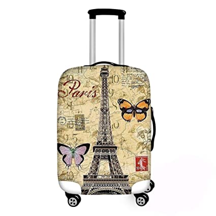 Fashion Eiffel Tower Luggage Case Protective Cover Waterproof Thicken Elastic Suitcase Case 18-32 Inch XL Travel Accessories 29, L
