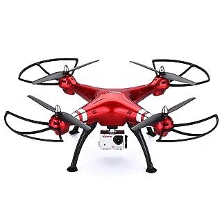 Syma X8HG - Drone Quadcopter RC Sin Cabeza 6 Axis Gyro (con Cámara Deportiva 8.0M, 4 Canales, 2.4GHz, 360 ° Tirones), color rojo
