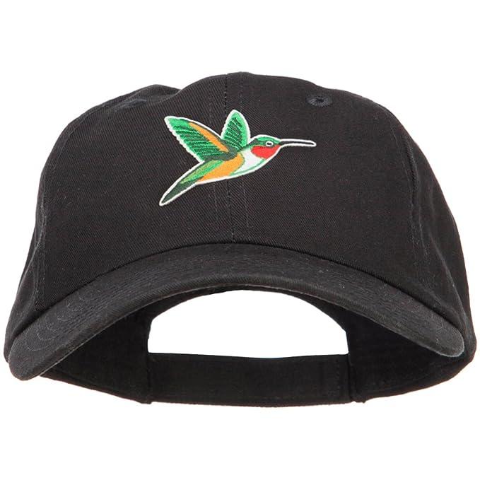 3893eb86270 E4hats Hummingbird Patched Low Profile Cotton Cap - Black OSFM at ...