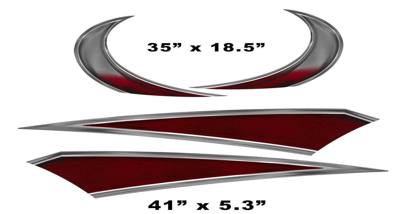 Amazon com rv trailer camper large vinyl decals graphics k 0008bur automotive