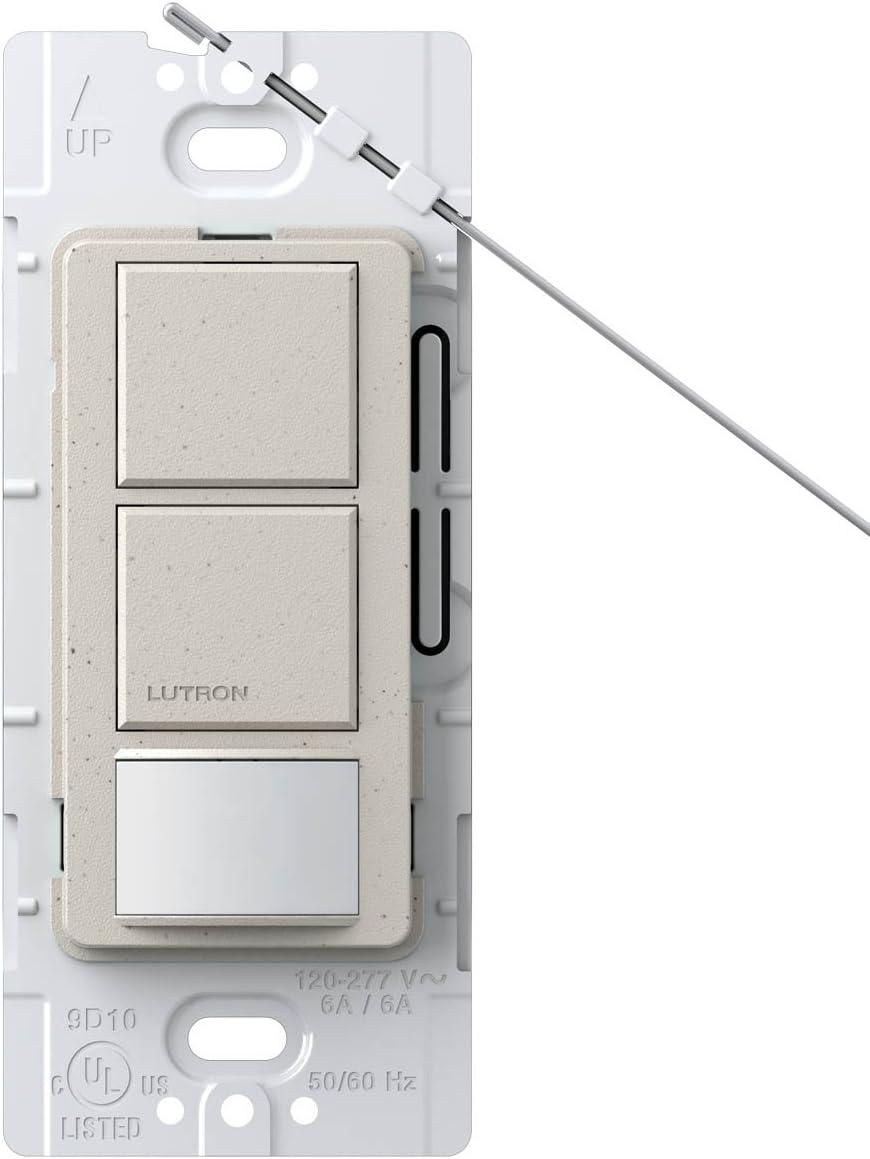 Lutron MS-OPS6-DDV-ES Maestro 6-Amp Single Pole Dual Circuit Occupancy Sensing Switch Eggshell