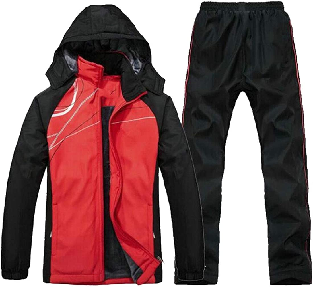 ainr Mens Outdoor Fleece Full Zip Jacket /& Pants 2 Pieces Tracksuit Sports Set