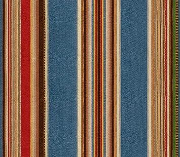 Wallpaper Designer South Western Southwest Indian Serape Stripe Blue Green Red