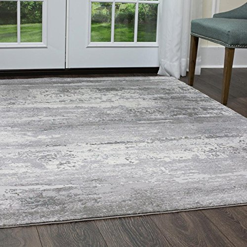 Christian Siriano Designer Area Rugs: Brooksville 6273-999 Gray Multi Contemporary Vintage Floral Rug: 7' 9'' x 10' 2'' Rectangle by Home Dynamix