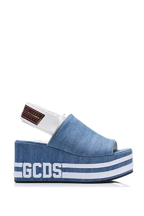 stili di grande varietà scegli il più recente sconto del 50 GCDS Ciabatte Sandali Blu Primavera Estate Art W010047 F-09 ...