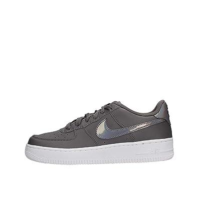 san francisco c1ba7 64d5c Nike Women s AIR Force 1 (GS) Fitness Shoes, Multicolour Gunsmoke White 019