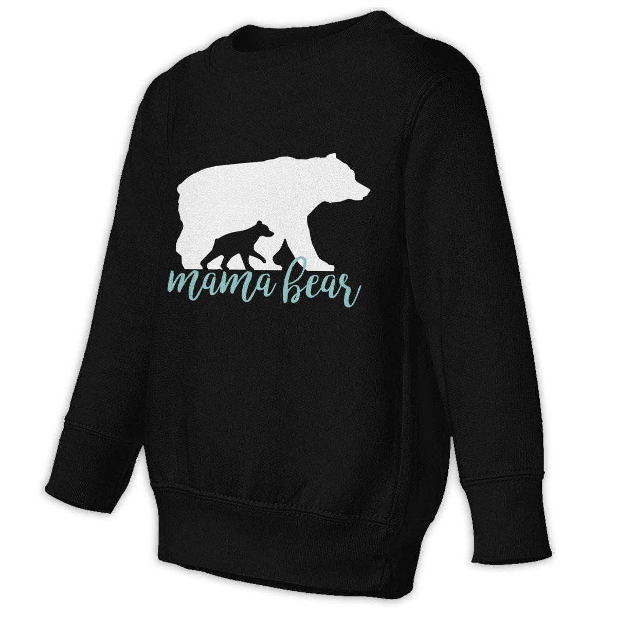 Mama Bear Kids Unisex Cotton Long Sleeve Round Neck Sweatshirt