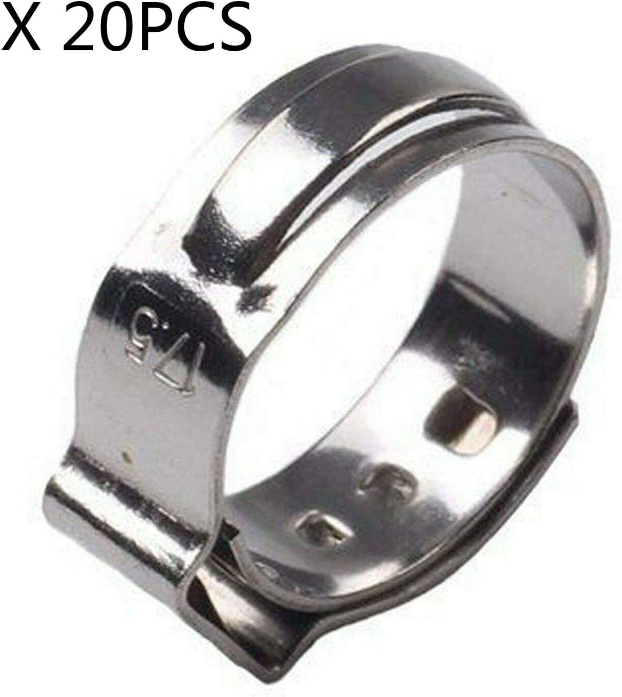 SUPERFASTRACING 20PCS 3//4 inch PEX Stainless Steel Clamp Cinch Rings Crimp Pinch Fitting ASTM