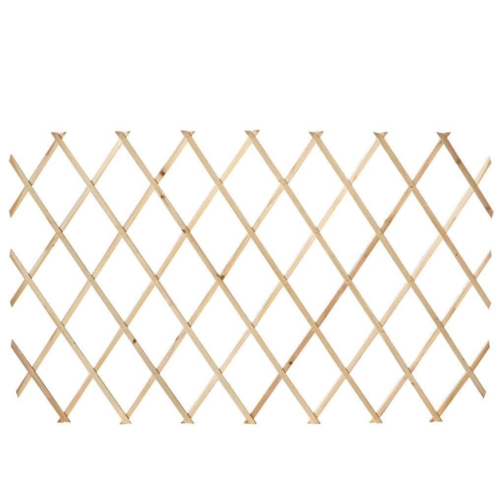 Tidyard Set 5 Pz Recinzione con Traliccio Estensibile in Legno 180 x 90 cm