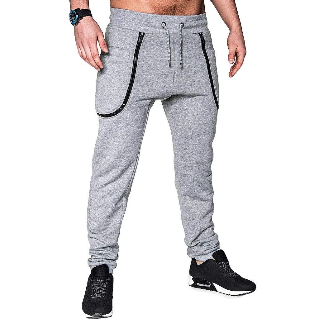 PPangUDing Hosen Herren Leinenhose Lange Pants Tasche