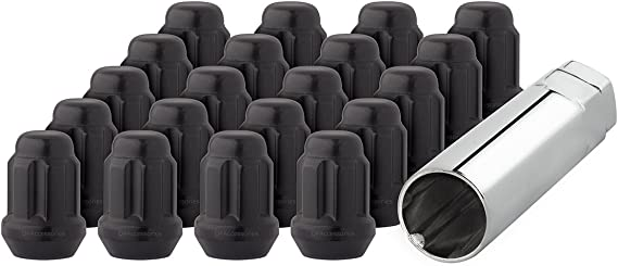 Buyer Needs to Review The spec 20pcs 2.32 Black 14mm X 1.50 Wheel Lug Nuts fit 2012 Cadillac Escalade May Fit OEM Rims