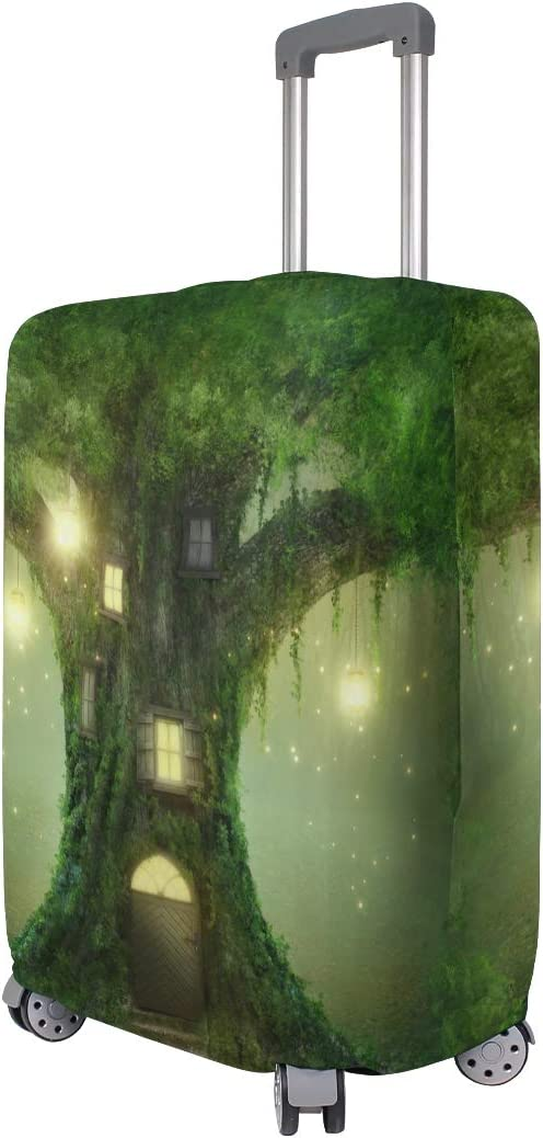 Blue Viper Mysterious Fantasy Tree House Luggage Protective Cover Suitcase Protector Fits 26-28 Inch Luggage