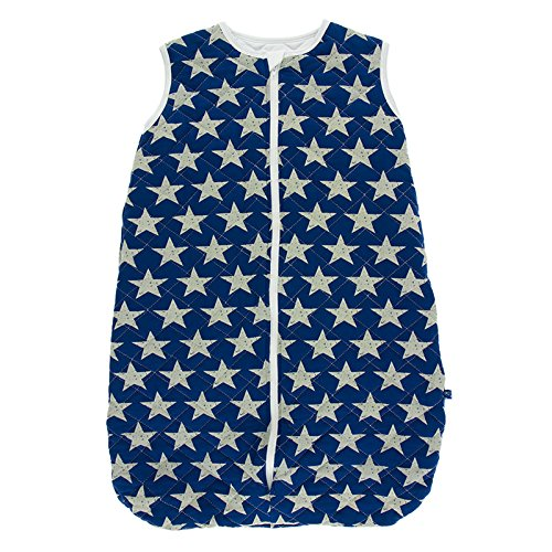 Kickee Pants Little Boys Print Quilted Sleeping Bag - Vintage Stars With Natural, 0-6 (Eureka Pillow)