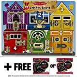Deluxe Latches Board + FREE Melissa & Doug Scratch Art Mini-Pad Bundle [37853]