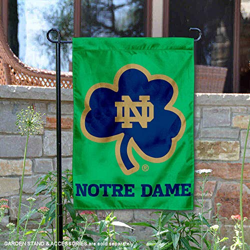 College Flags and Banners Co. Notre Dame Shamrock Garden Flag