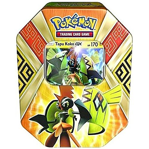 2017 Collector Tin Set - Pokemon 2017 Island Guardians Tapu Koko-GX Collector Tin Set
