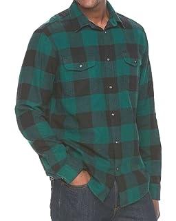 New Mens Sonoma Long Sleeve Button Down Flannel Shirt Modern Fit XLT 2XLT
