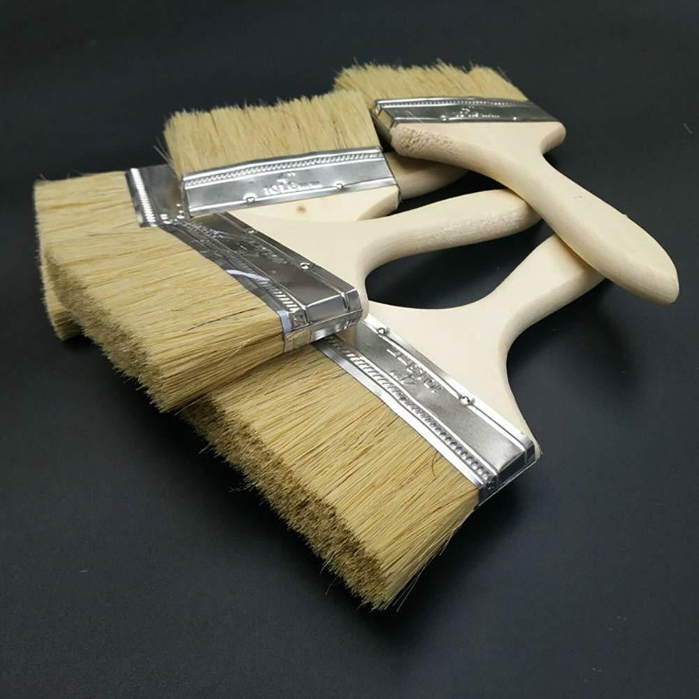 Sukisuki Multi-Use Thicken Wood Handle Paint Wall Brush DIY Home Painting Decorating Tool High Grade 2 Inch