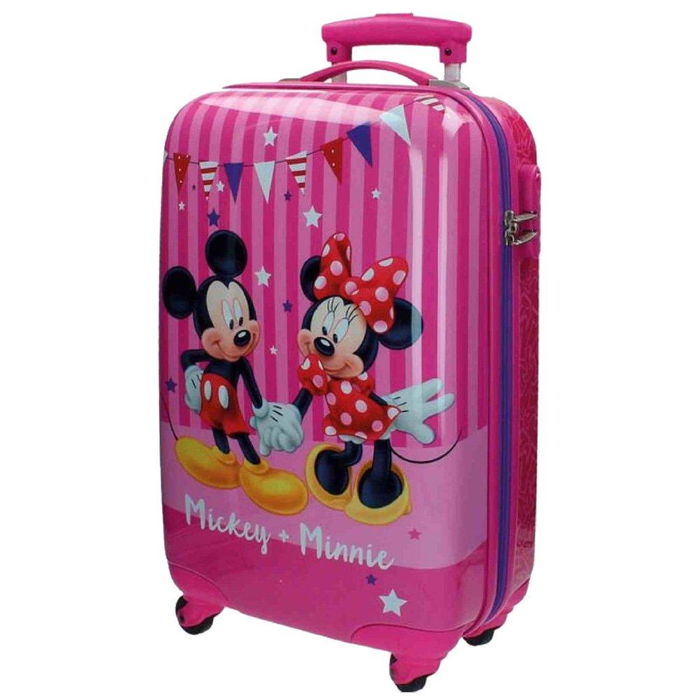 Disney Kabinenkoffer Mickey und Minnie Kindergepäck, 33 Liter, Rosa