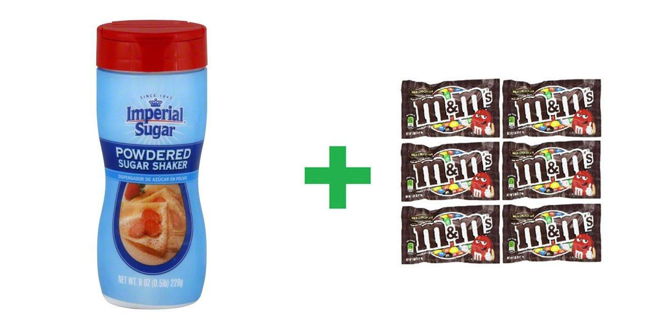Amazon.com : Imperial Sugar Powdered Sugar Shaker 8 OZ (Pack of 7) + (6 Pack of M&M Milk Chocolate 1.69oz) : Grocery & Gourmet Food
