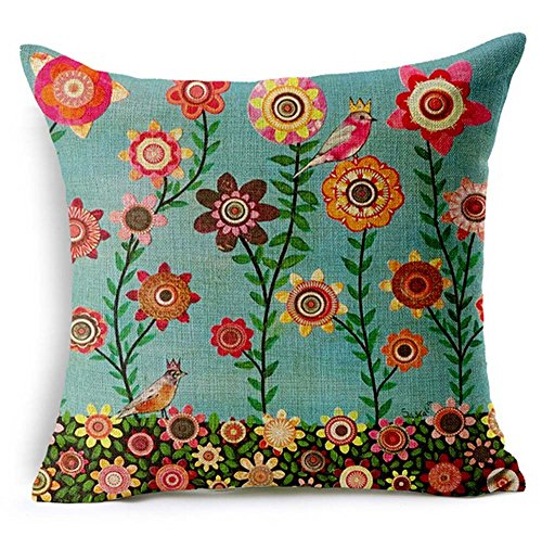 Painting Branch Flower Cushion Decorative
