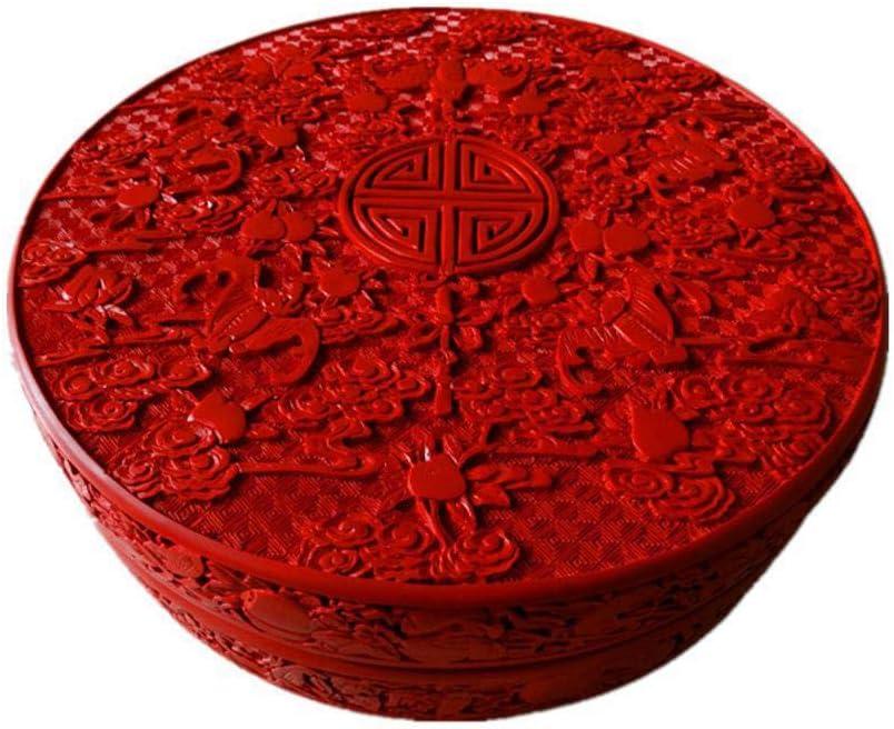 Laogg Caja Joyero Chino,Empuje la Laca luz Tallado Laca Caramelo Caja Almacenamiento Caja China Caja de Almacenamiento joyero De Boda Estuche Muebles y Regalos orientales: Amazon.es: Hogar