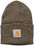 : Carhartt Men's Acrylic Watch Hat A18, Dark Brown/Sandstone, One Size