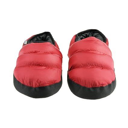 f83e18e44590b Homme femme Pantoufles D intérieur Pantoufle Chaleureux Chausson Hiver  Imperméable Antidérapante Chaussures Doux en