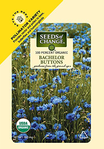 Seeds of Change 01734 Certified Organic Bachelor Buttons (Button Seed)