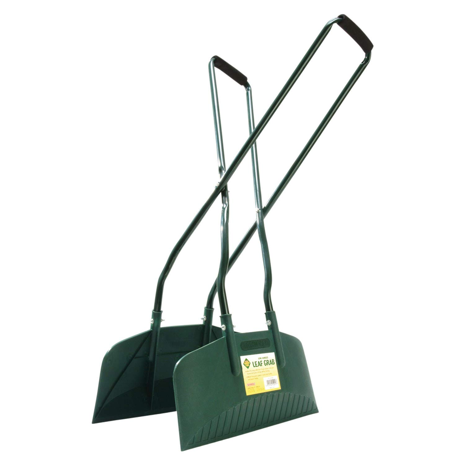 Bosmere Leaf Grabber - Long Handled Lightweight Leaf and Yard Debris Rake - Plastic and Metal - 16