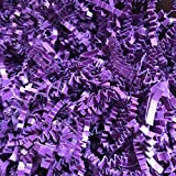 Black Cat Avenue 1 LB Plum Purple Crinkle Cut Paper Shred Filler for Gift Wrap and Basket Filler