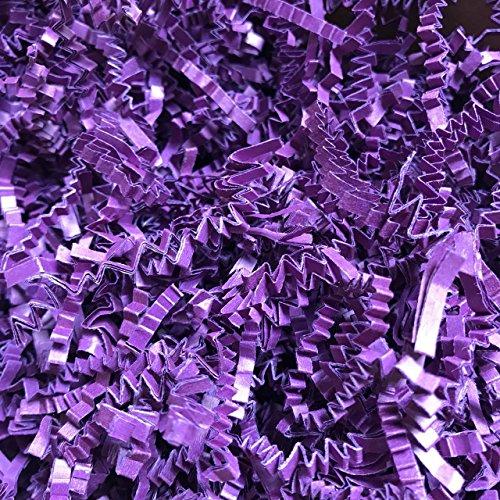 Black Cat Avenue 1 LB Plum Purple Crinkle Cut Paper Shred Filler for Gift Wrap and Basket Filler by Black Cat Avenue