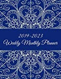 #6: 2019-2023 Weekly Monthly Planner: Mandala Blue Color, 8.5